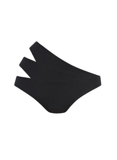 Penti Ten Siyah Beyaz Fresh Slip Külot 3'Lü Paket Siyah